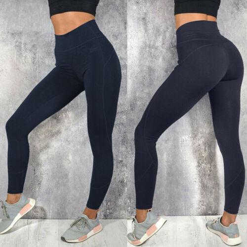 Women High Waist Yoga Pants Seamless Leggings Butt Lift Sports Fitness Trousers