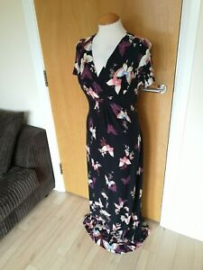 Ladies-PER-UNA-Dress-Size-10-Long-Maxi-Stretch-Smart-Casual-Day-Party