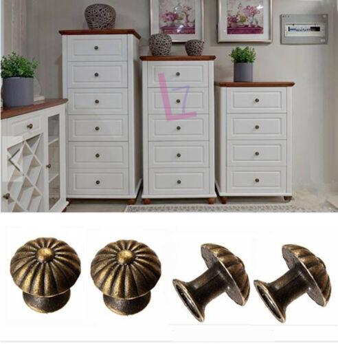 DIY 10Pcs Vintage Cabinet Drawer Door Pull Handle Closet Knob Retro Hardware