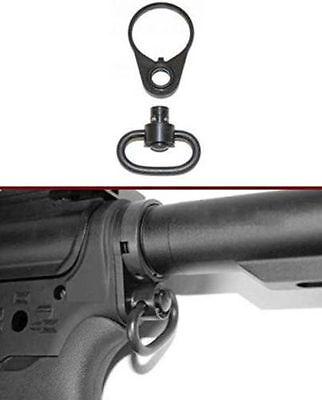 "QD 1.25/"" Push Button /& Ambidextrous Rilfe Sling 2ar End Plate Mount Adapter USA"