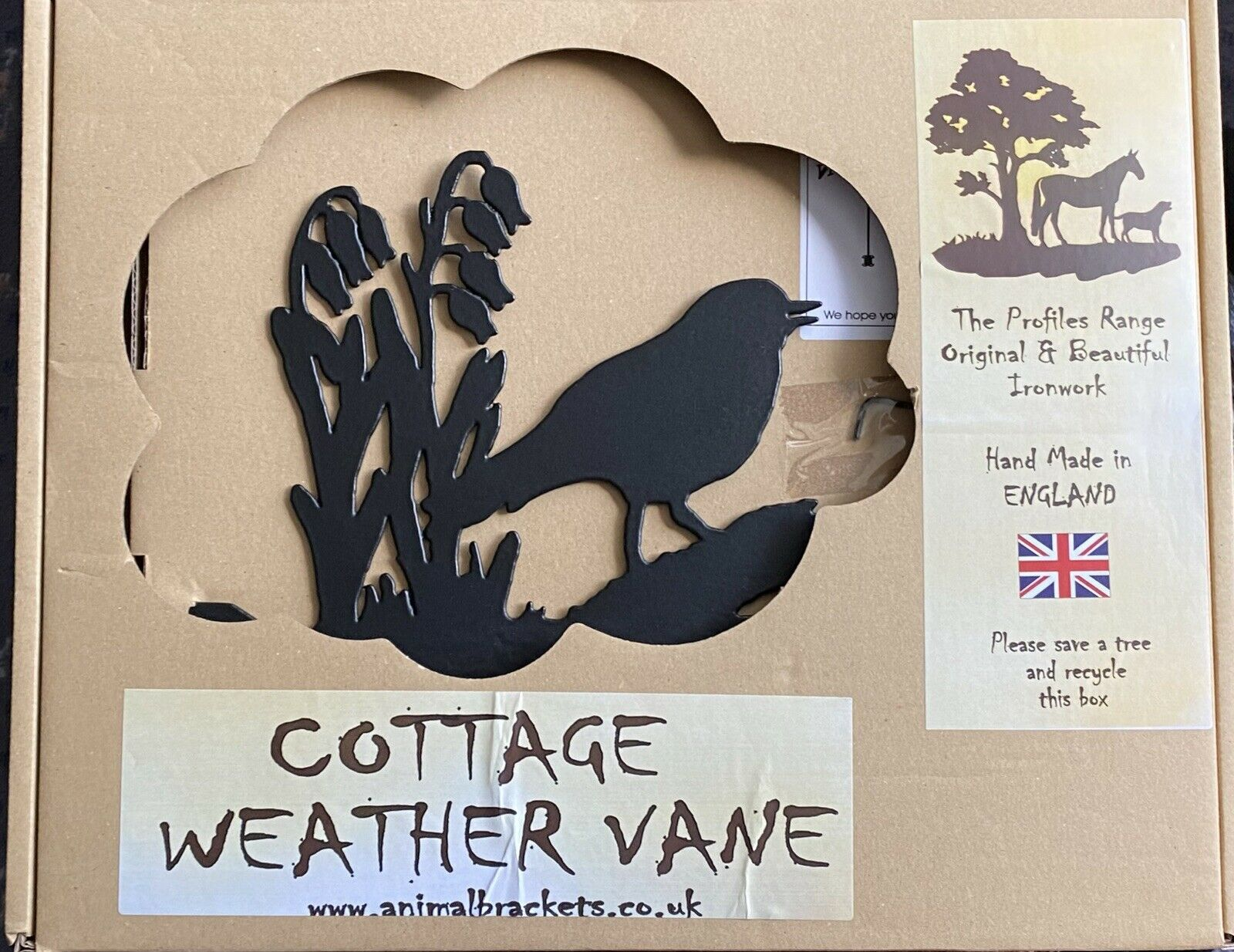 Cottage Weather Vane Robin RRP