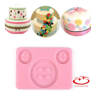 Diy Silicone Button Cake Mould Fondant Sugar Craft Mold