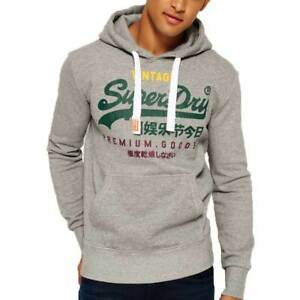 poimittu erilaisia muotoiluja mistä voin ostaa Details about Superdry Mens Premium Goods Tri Hoodie Vintage Pullover  Phoenix Light Grey Grit