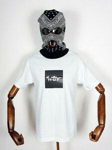 Huf Worldwide Skateboard T-Shirt Tee Voyeur Logo White in M