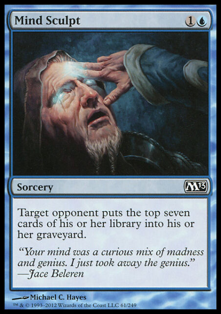 *FOIL* MIND SCULPT NM mtg M13 Blue - Sorcery Unc