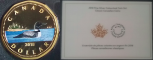 2018 Dollar Proof Pure Silver $1 Colourised Coin Canadian Loonie Classic w/ COA