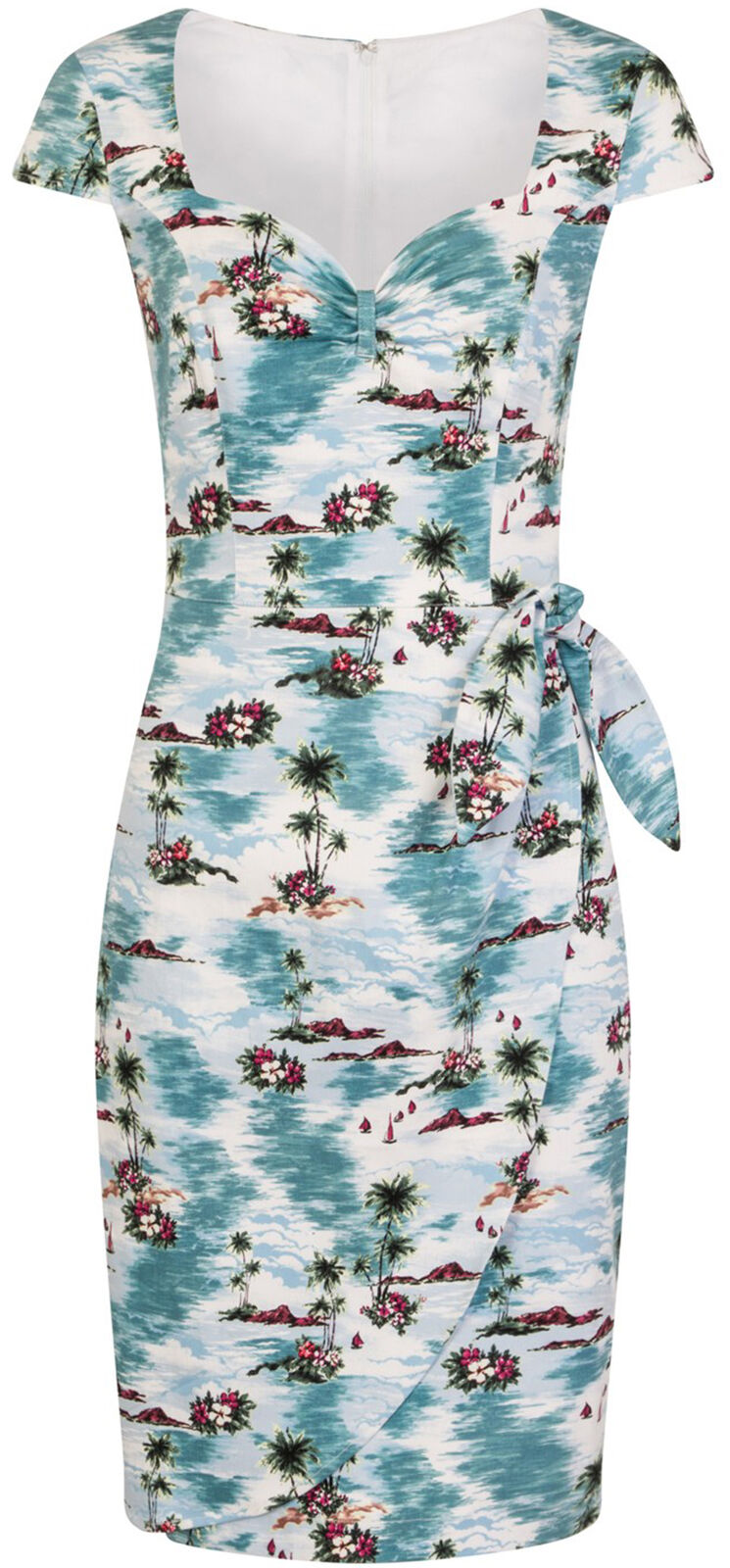 Hell Bunny Nissi Tropical Islanda Hibiskus Pencil Dress matita matita matita Vestito Rockabilly 1901f2