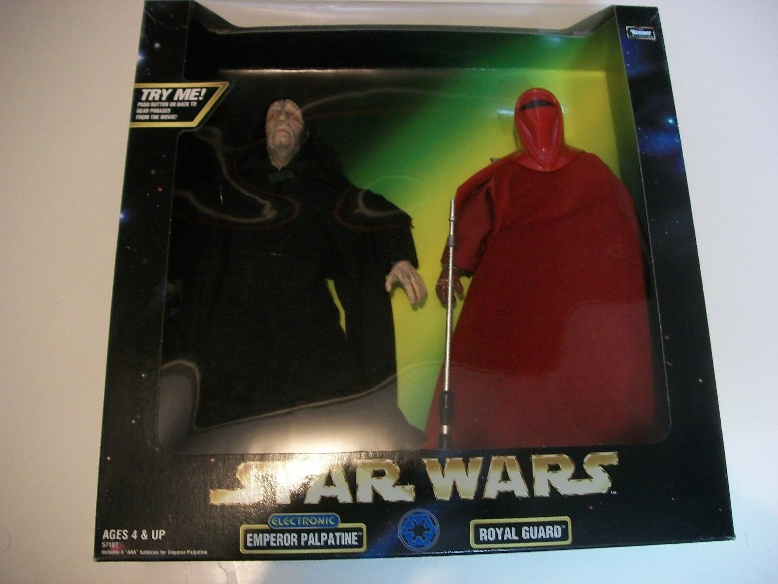 Star Wars: Emperor Palpatine and Royal guard 12 Inch figure  Kenner NRFB