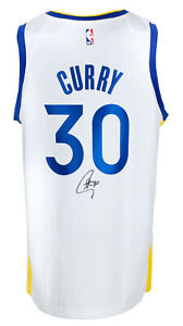 Stephen Curry Signed Golden State Warriors White Basketball Jersey BAS