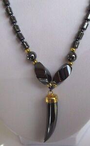 collier-bijou-vintage-tout-en-hematite-veritable-motif-dent-412