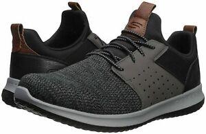 Détails sur Nouveau Homme Skechers Classic Fit DELSON Camden Sneaker Noir Gris afficher le titre d'origine