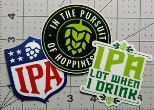 IPA Hop Icon Logo Pale Ale Decal Brewing Brewery Brew Craft Beer STICKER
