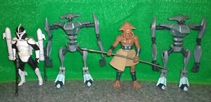 Star Wars Clone Wars Squid Head Quarren Soldier, Scuba Clone Trooper, Aqua Droid