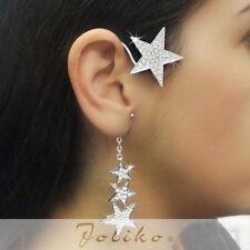 JoliKo Ohrklemme Ohrhänger Ear cuff Earring Chain Star Sterne Silvester RECHTS