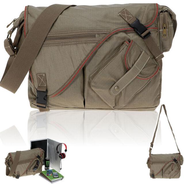 Tasche ELEPHANT SAHARA Canvas Laptoptasche Schultertasche Kuriertasche KHAKI