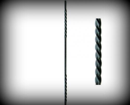 Zaunstab 900 mm 2-fach gedrillt Stäbe Vierkantstab Zaunbau Schmiedeeisen 02-023