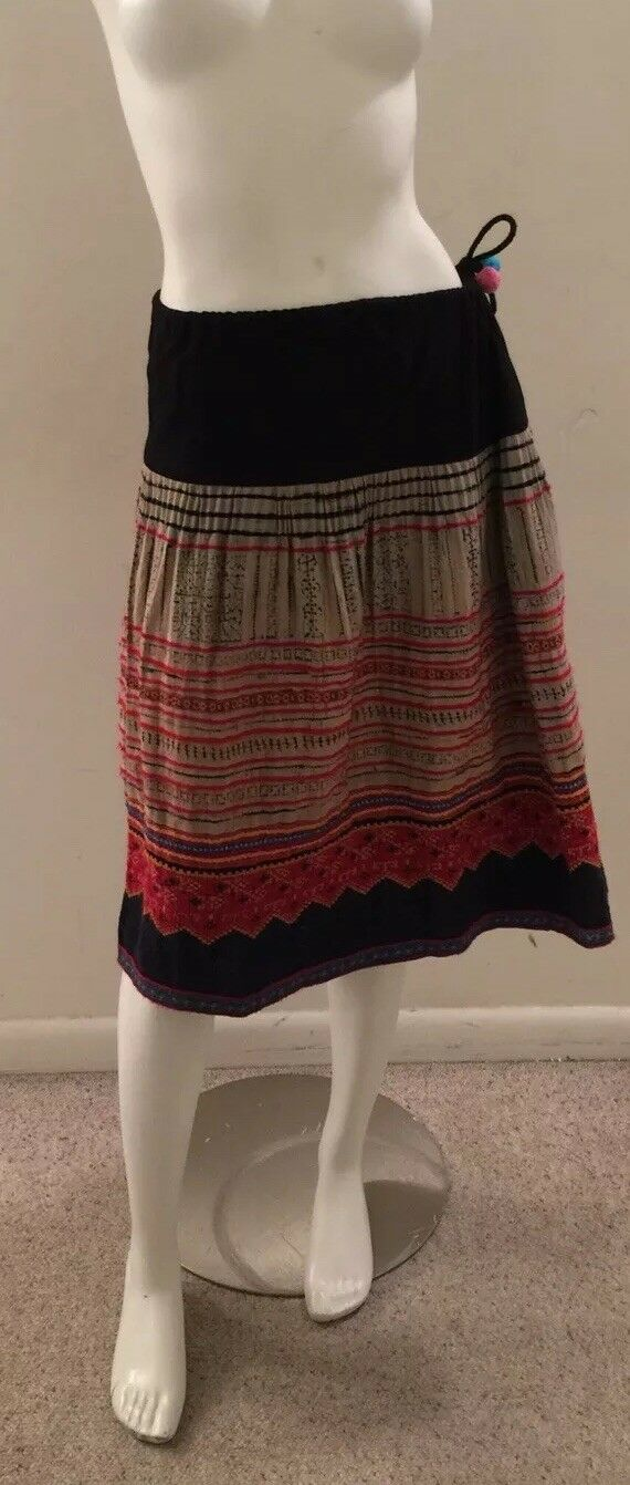 Skirt Handmade Tribal Thai Boho Hill Tribe Fabric Woven
