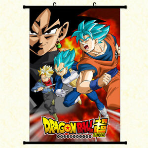 Anime-Dragon-Ball-Z-Super-Saiyan-Wall-Scroll-Poster-Home-Decor-Art-Cos-Painting