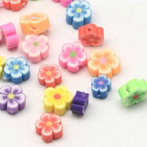 50pc//lot 15mm Polymer Clay Fimo Plumeria frangipani Flower Beads Jewelry Craft