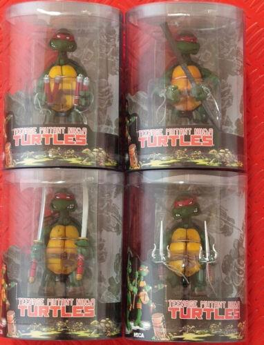 4 PCS NECA TMNT Teenage Mutant Ninja Turtles Multicolor Headband Action Figures