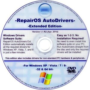 2014 Windows XP Vista 7 8 8 1 Drivers Pack Extended DVD Disc for ...