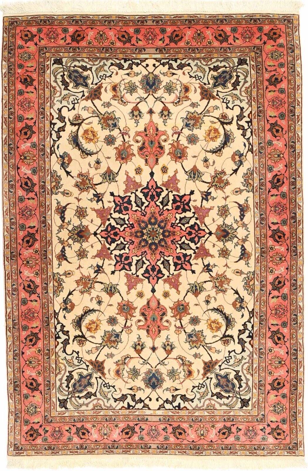 Persiano Annodato a Mano Tappeto Tabriz 50 Rossi 158 cm x 102 cm Nr.203091