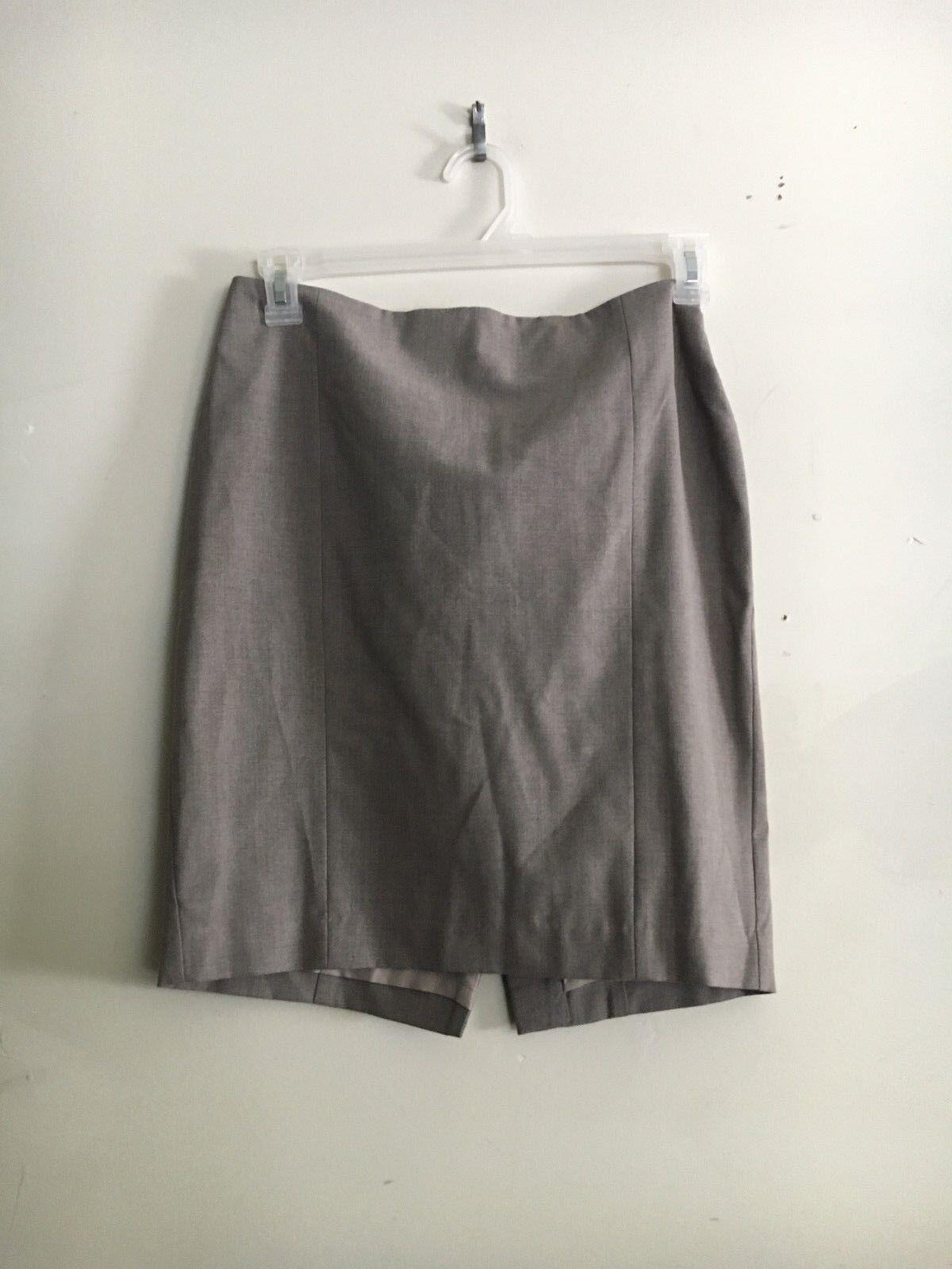 Ann Taylor Cedar Heather Light Brown Formal Skirt Women Size 4P