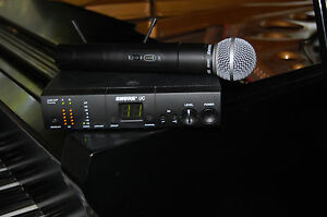 shure uc24 uhf wireless microphone system uc2 sm58 ua ebay. Black Bedroom Furniture Sets. Home Design Ideas