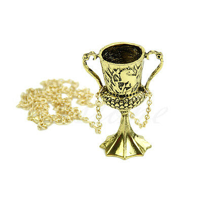 HARRY POTTER and The Goblet of Fire Hufflepuff's Cup Pendant Horcrux Necklace NW