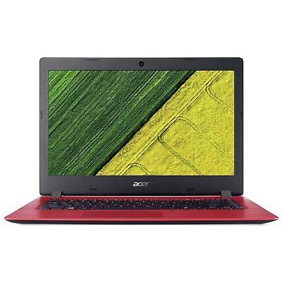 Acer Aspire 1 14 Inch Celeron N3350 1.1GHz 4GB 32GB eMMC Laptop - Red.