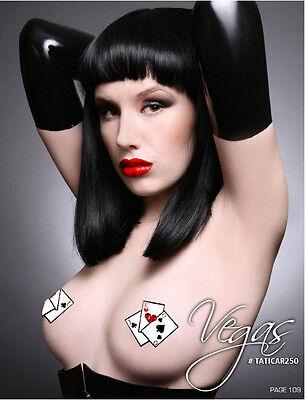 Sexy Rhinestone Poker Playing Cards Tata Nipple Covers Pastie Makeup Costume Kit