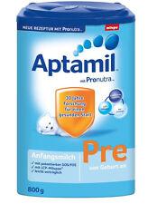 Milupa Aptamil Pre von Geburt an mit Pronutra 1 Jahr Haltbar ab Kauf 1x 800g