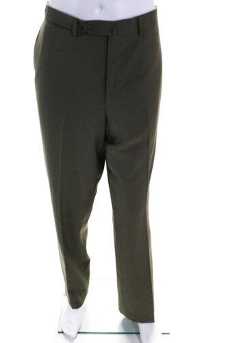 Ermenegildo Zegna Mens Wool Straight Leg Dress Pan