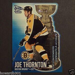 JOE-THORNTON-2002-03-Mcdonald-039-s-Cup-Contenders-1-Pacific-Prism-Platinum