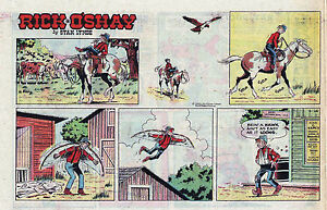 Rick-O-039-Shay-by-Stan-Lynde-half-tab-color-Sunday-comic-page-August-16-1970