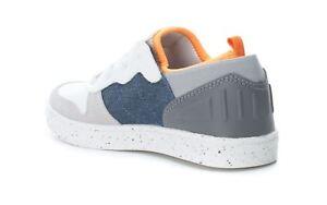 Boys-Xti-Kids-Casual-Trainer-White-Denim-Grey-Lace-up-Sizes-Eu-28-38-UK-10-5