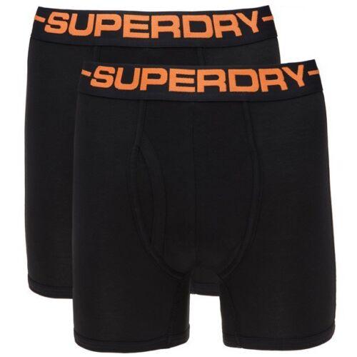 Camicia Uomo Superdry Sport Double Pack Mutande Boxer Nero Nero Taglie S-XL