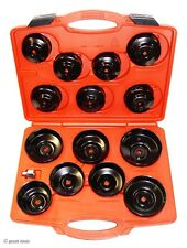 14 Pc Oil Filter Socket Wrench Set Cup Style Mechanic Oil Change Tools