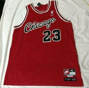 info for 8a6cc 28648 Details about Vintage Retro Nike Michael Jordan 1984 Chicago Bulls flight  red jersey size XL