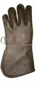 Children-Leather-Glove-Falconry-Child-Glove-Single-Layer-Bole-Brown-All-Sizes