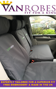 VW Transporter T6 2015 on Tailored Van Seat Covers Free Embroidery.