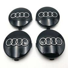 Set Of 4 236 Inch 60mm Car Rim Wheel Center Hub Caps Emblems For Audi Black