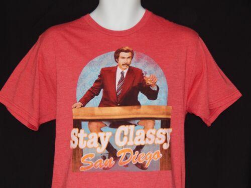 NEW Anchorman Movie Ron Burgundy Stay Classy Short Sleeve T-Shirt MENS Size M XL