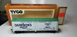 Vintage-Tyco-Dairymen-039-s-League-40-039-Billboard-Reefer-GARX-907-HO-Scale-Train-Car