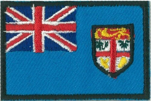 Ecusson patche drapeau FIDJI FIJI iles petit 45 x 30 mm brodé thermocollant