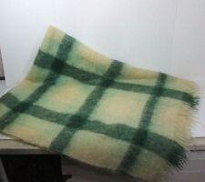 Vintage Eaton's Plaid 100% Mohair Scotland Woven Throw Blanket MCM 58X76 MINT!
