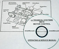 Lj Technical Systems Ms15 Motor Control Operating & Service Manual W/schematics