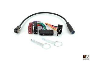 Radio-Adapterkabel-Set-ISO-DIN-ISO-Mercedes-Benz-R107-W126-W201-Ausziehhaken