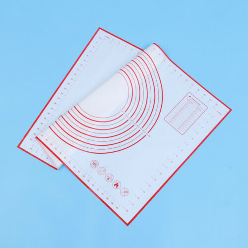 50x70cm Red Extra Large Silicone Non-Stick Baking Mat for Pastry w// Measurements