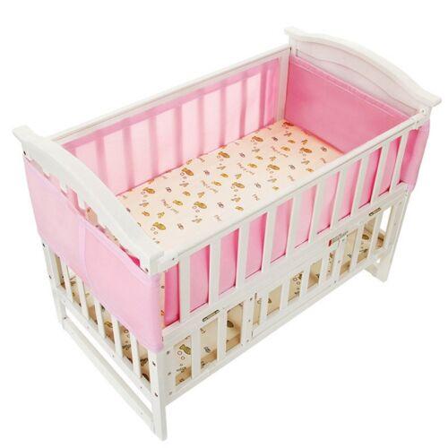 1pc Long Baby Crib Bumper+1pc Short Bumper Infant Newborn Cot Bedding Protector